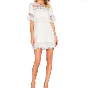PARKER Combo Shift Pearl White Dress